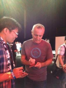 Curt Smith Signing Autographs backstage at show