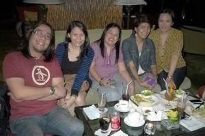 Dinner near the Band, can't beat that...Manila, Philippines...