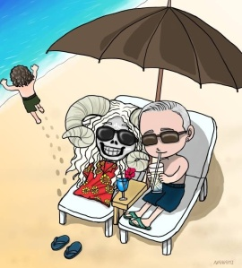 Curt, Roland (running to enjoy the waves) and the infamous Mr. Ramskull ;)