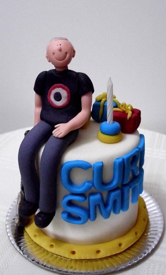 Um bolo de Curt Smith de Arte em Acucar oxox