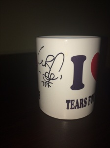 Both Curt and Roland signed this cool Tears for Fears coffee mug for Lady Carolyn...