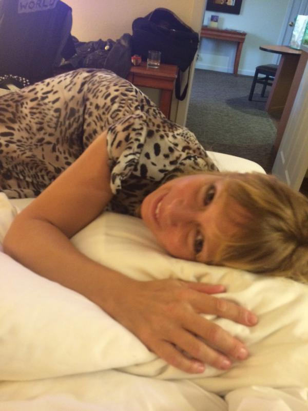 Deb in the bed
