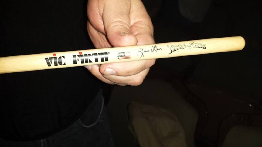 Drum sticks of Drummer Genius Jamie Wollam