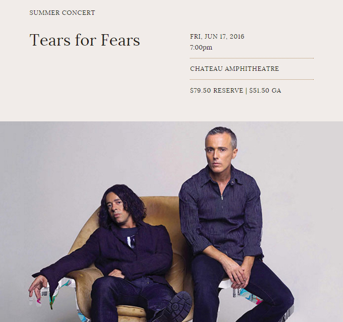 Tears for Fears Chateau