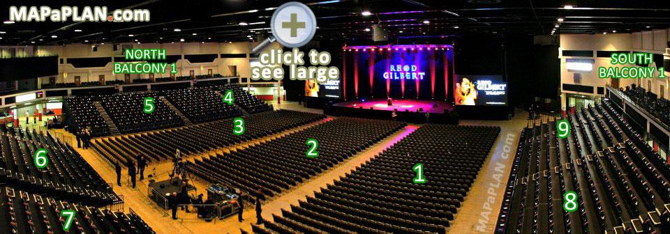 Cardiff Motorpoint Arena detailed seating plan