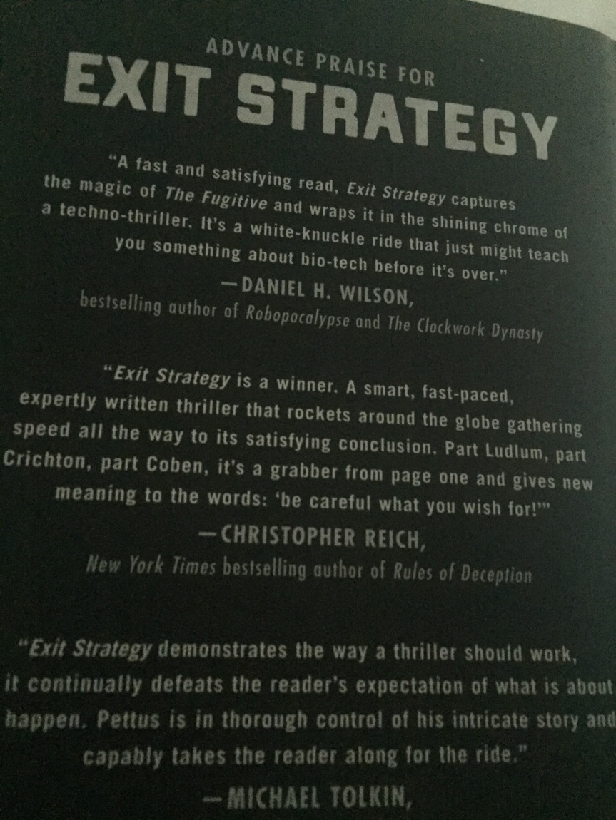 Exit Strategy, by Reverend Charlton Pettus #TFFBookClub