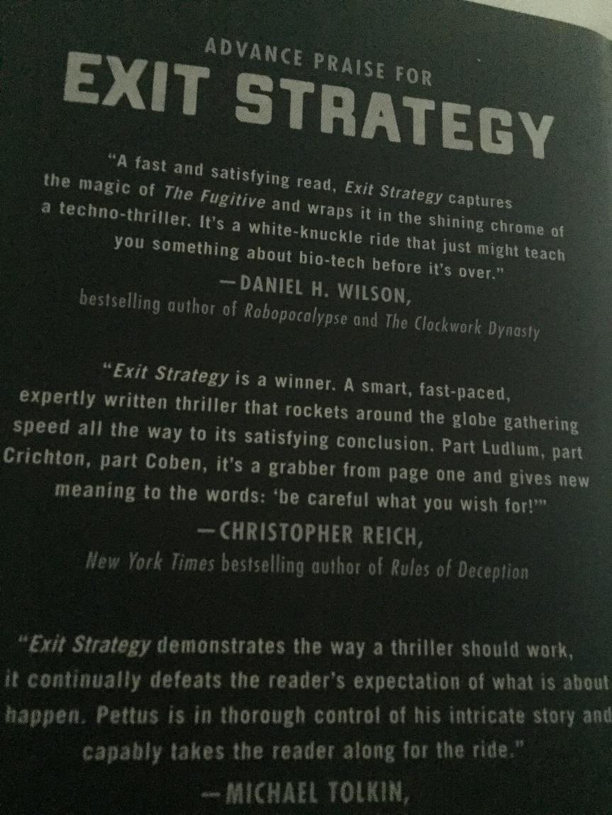 Exit Strategy, by Reverend Charlton Pettus#TFFBookClub