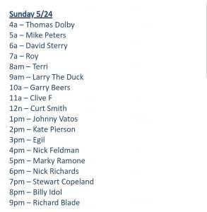 Richard Blade Curt Smith Schedule 1st Wave